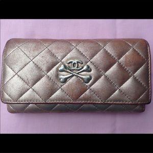 Handbags - Metallic Rose Gold Leather Wallet